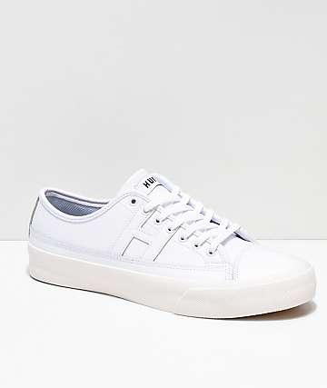 HUF Hupper 2 Lo zapatos skate de cuero blanco