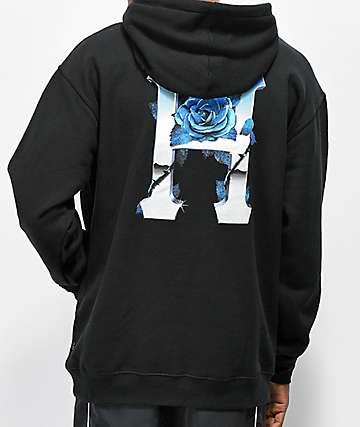 HUF Ice Rose Black Hoodie