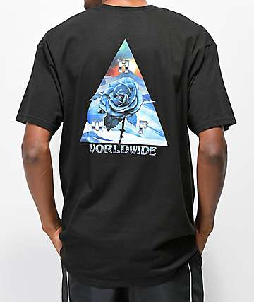 HUF Ice Rose Triangle Black T-Shirt