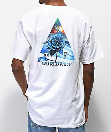 HUF Ice Rose Triangle White T-Shirt