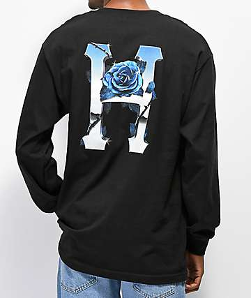 HUF Ice Rose camiseta negra de manga larga