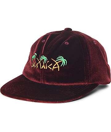 HUF Jamaica gorra de terciopelo en color vino