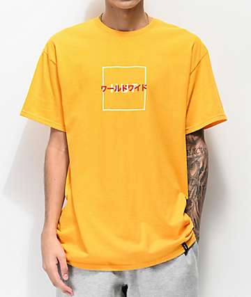 HUF Katana Box Logo Gold T-Shirt