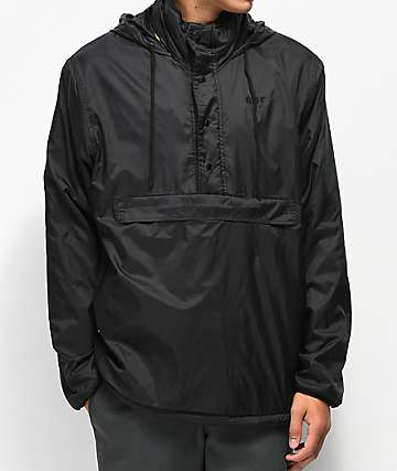 HUF Kumo Reversible Black & Camo Quarter Zip Jacket