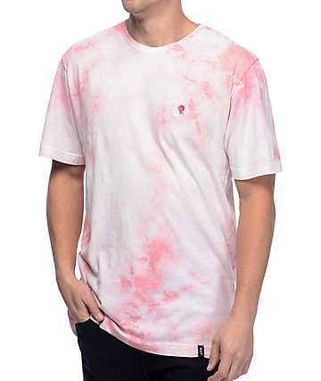 HUF La Vie En Rose Crystal Wash camiseta rosa
