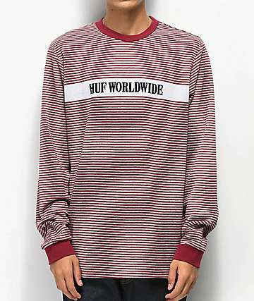 HUF Latitude Red Knit Shirt