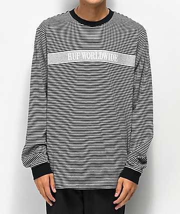 HUF Latitude camiseta de punto negro
