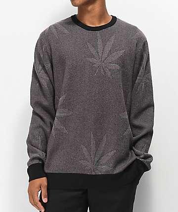 HUF Macro Plantlife Black Sweater