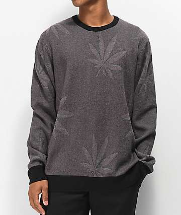 HUF Macro Plantlife suéter negro