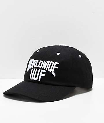 HUF Manhattan Black Strapback Hat