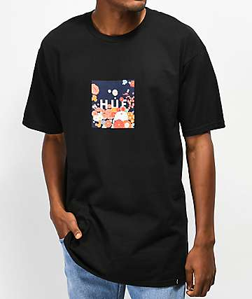 HUF Memorial Box Logo Black T-Shirt