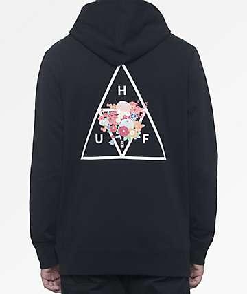 HUF Memorial Triangle Black Hoodie
