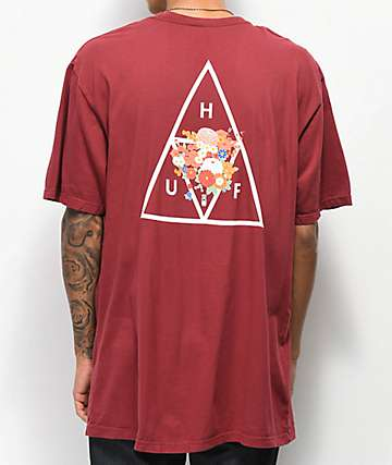HUF Memorial Triangle camiseta roja