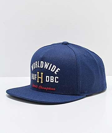 HUF Metal H Navy Strapback Hat