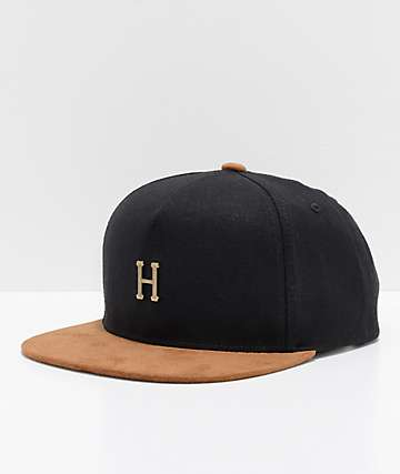 HUF Metal H gorra strapback en negro