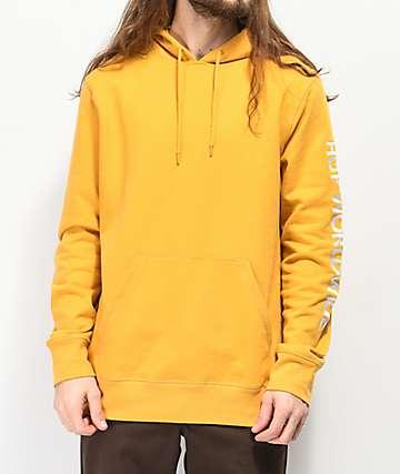 HUF Mission Yellow Hoodie