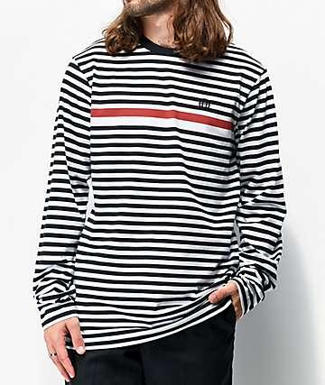 HUF Morris Black Stripe Long Sleeve T-Shirt