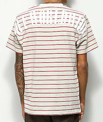 HUF Nevermind Knit Stripe Beige T-Shirt