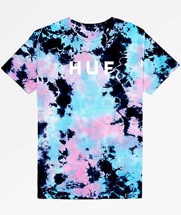 HUF OG Logo Lavender Tie Dye T-Shirt