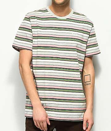 HUF Offshore camiseta a rayas coloridas