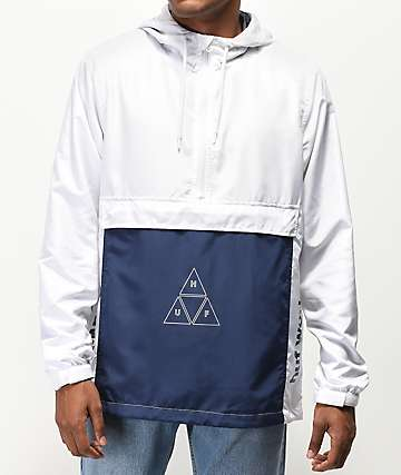 eaa0be516956 HUF Peak 3.0 White   Blue Anorak Jacket