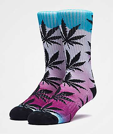 HUF Plantlife Airbrush Pink Crew Socks
