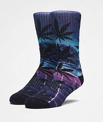 HUF Plantlife Airbrush Purple Crew Socks