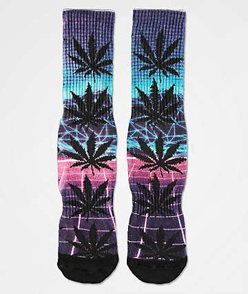 HUF Plantlife Airbrush Purple Crew Socks