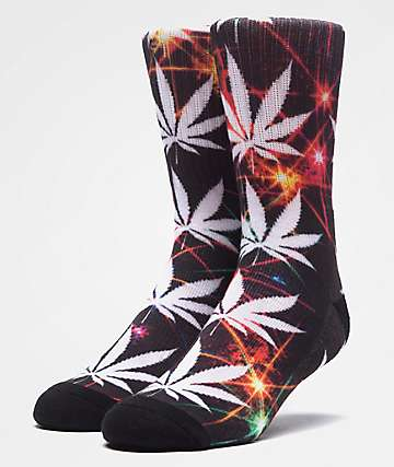 HUF Plantlife All The Lights Black Crew Socks