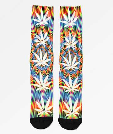 HUF Plantlife All The Lights Multi-Colored Crew Socks