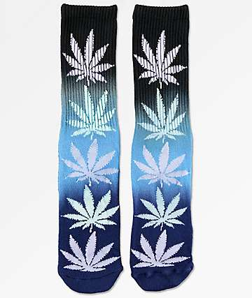 HUF Plantlife Black & Blue Gradient Crew Socks