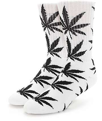 HUF Plantlife Black & White Crew Socks
