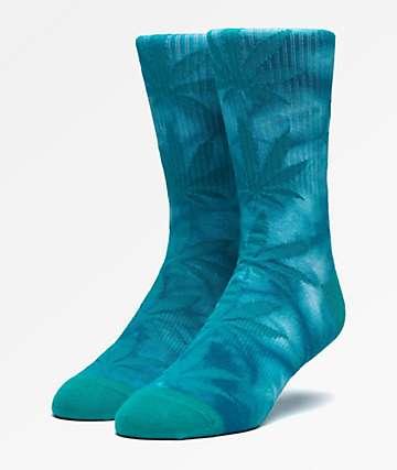HUF Plantlife Blue Iris Tie Dye Crew Socks