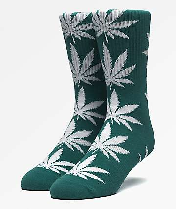 HUF Plantlife Botanical Green Crew Socks