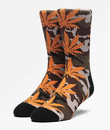HUF Plantlife Camo Loden Crew Socks