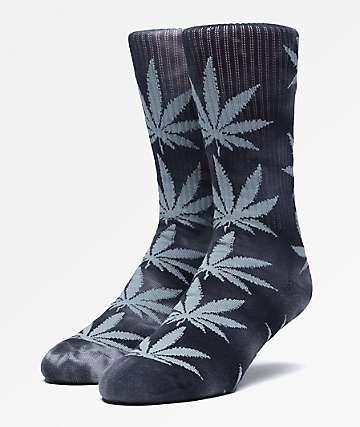 HUF Plantlife Charcoal Tie Dye Crew Socks