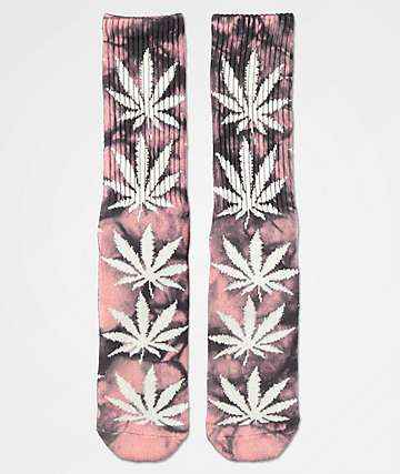 HUF Plantlife Coral Crystal Wash Crew Socks