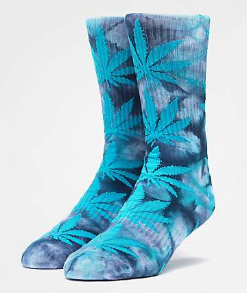 HUF Plantlife Crystal Washed Indigo Crew Socks