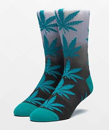 HUF Plantlife Deep Jungle Gradient Dye Crew Socks