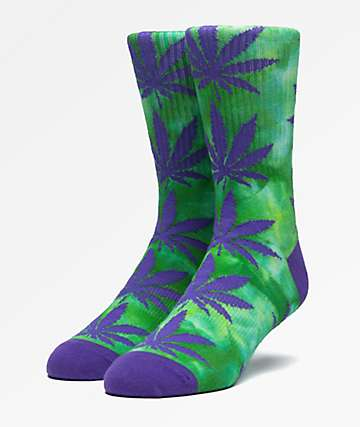HUF Plantlife Deep Jungle Tie Dye Crew Socks