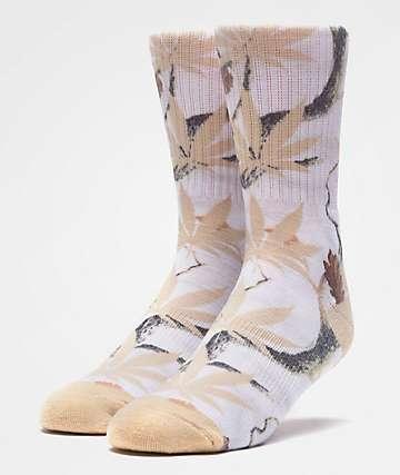 HUF Plantlife Digi Camo White Crew Socks