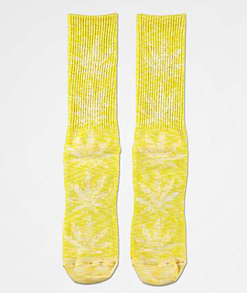 HUF Plantlife Full Melange Aurora Yellow Crew Socks