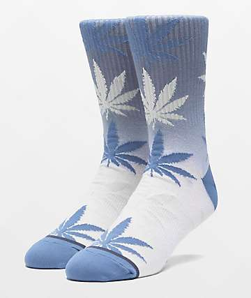 HUF Plantlife Gradient Dye Blue Mirage Crew Socks