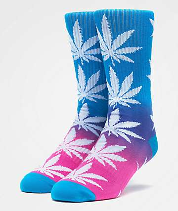 HUF Plantlife Gradient Washed Blue Crew Socks