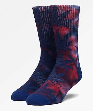 HUF Plantlife Insignia Blue Tie Dye Crew Socks
