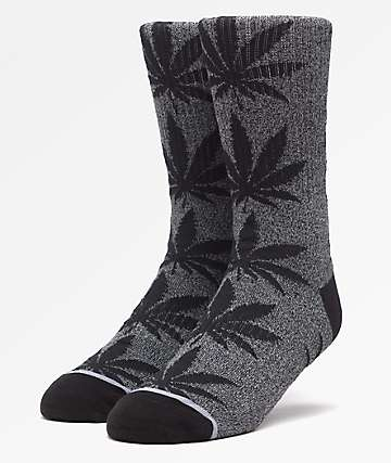 HUF Plantlife Kush Black Melange Crew Socks