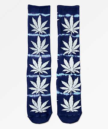 HUF Plantlife Lightning Blue Washed Crew Socks