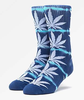 HUF Plantlife Lightning Wash Indigo Crew Socks