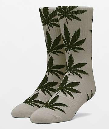 HUF Plantlife Martini Olive Crew Socks