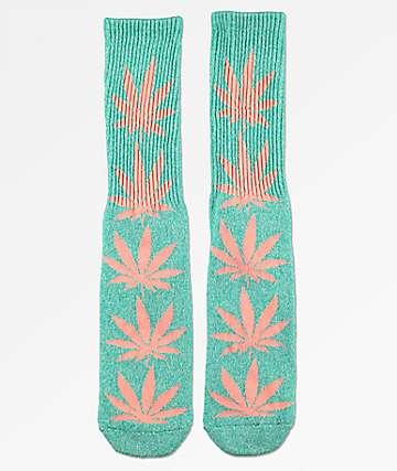 HUF Plantlife Melange Aqua Crew Socks